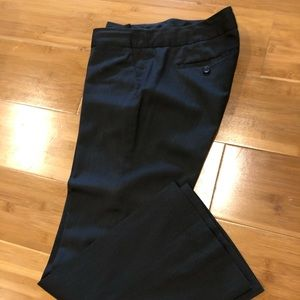 Charcoal gray trousers
